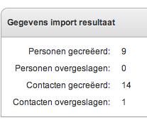 Import resultaat